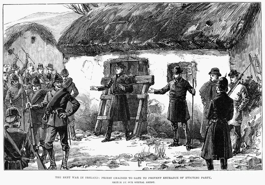 1887 Photograph - Irish Land League, 1887 by Granger