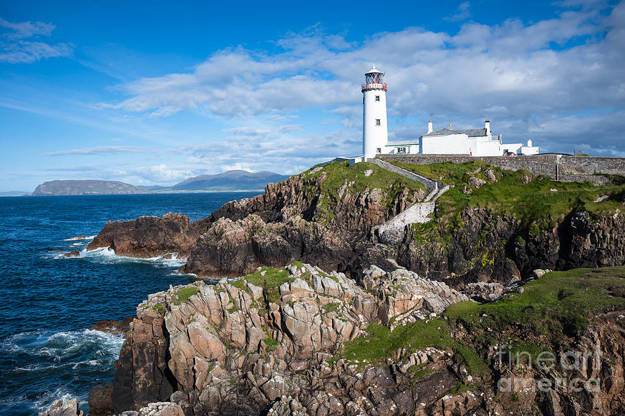 Lighthouse Photograph - Irish Lighthouse by Andrew  Michael
