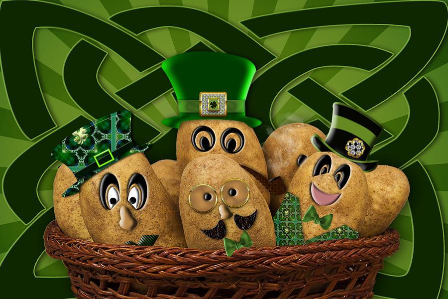 Irish Photograph - Irish Potatoes by Trudy Wilkerson