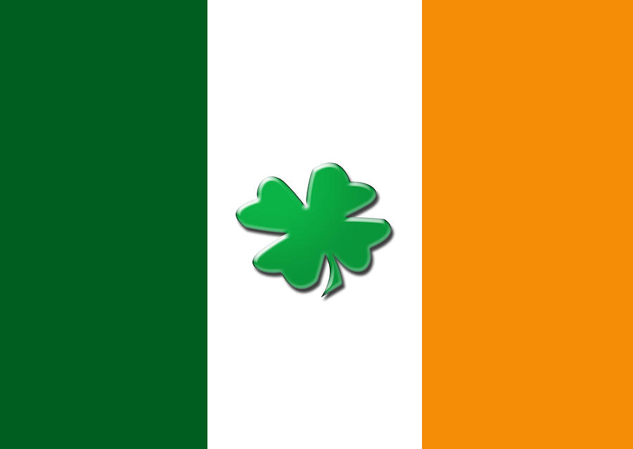 irish shamrock flag digital art by christopher rowlands