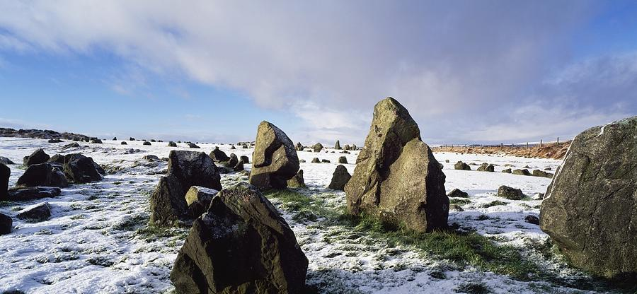 Beaghmore Photograph - Irish Snow Scenes Co Tyrone, Beaghmore by The Irish Image Collection