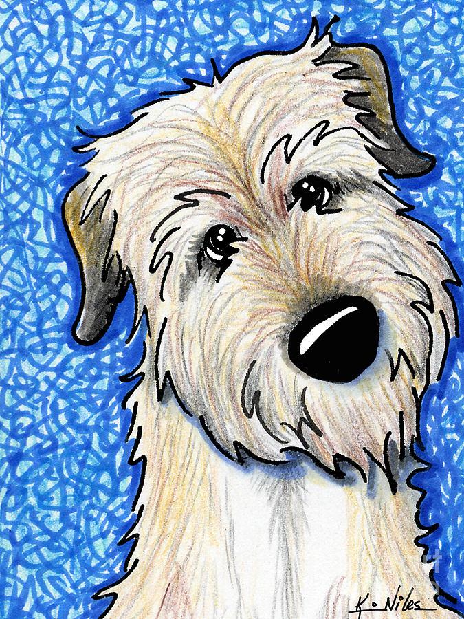 Irish Wolfhound Drawing - Irish Wolfhound by Kim Niles
