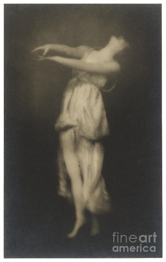 Female Photograph - Irma Duncan by Arnold Genthe