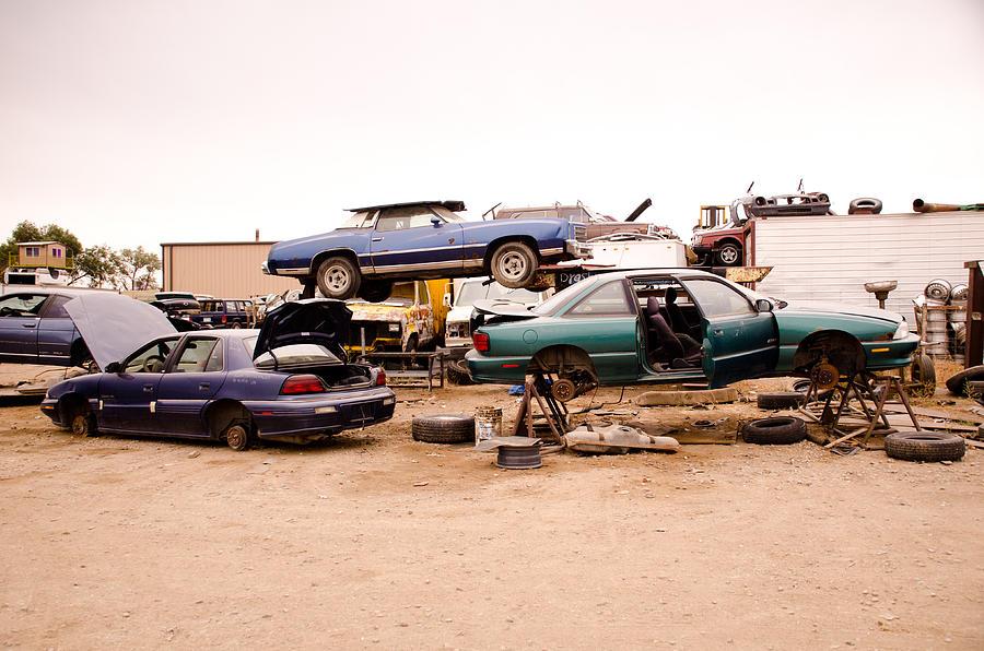 Tires Photograph - Iron Boneyard 3 by Matthew Angelo