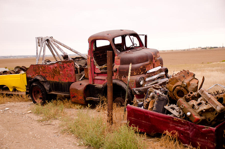 Tires Photograph - Iron Boneyard 4 by Matthew Angelo