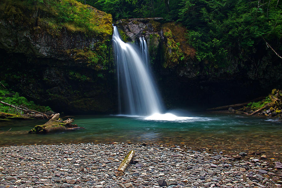 Creek Photograph - Iron Creek Falls 2 by Marcus Angeline