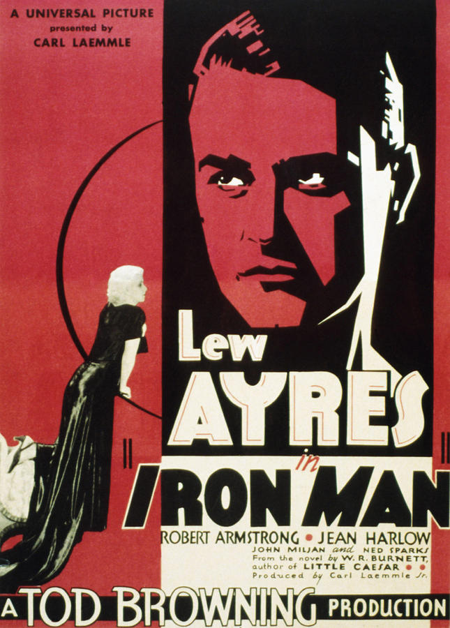 1930s Movies Photograph - Iron Man, Jean Harlow, Lew Ayres, 1931 by Everett