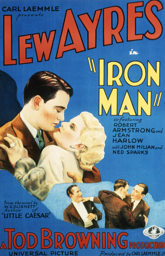 1930s Movies Photograph - Iron Man, Lew Ayres, Jean Harlow, 1931 by Everett