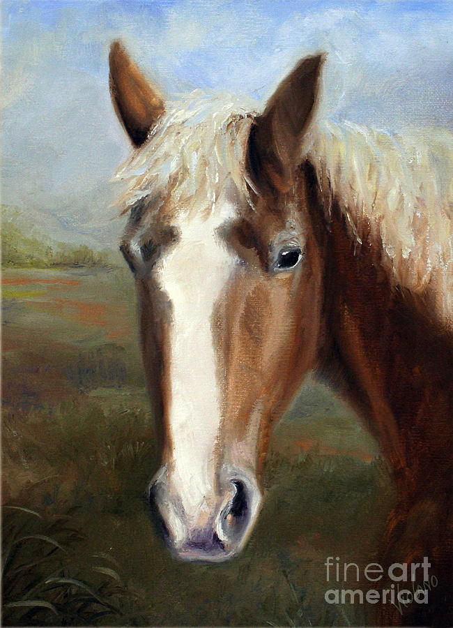 Horse Painting - Iron Mike by Stella Violano