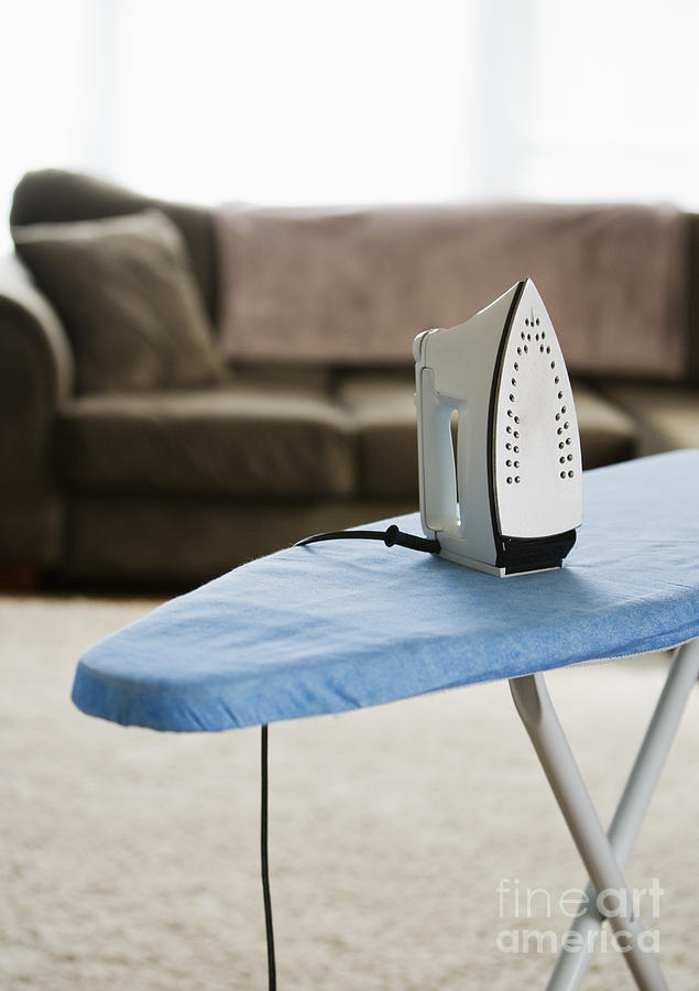 iron on an ironing board photograph by ben sandall. Black Bedroom Furniture Sets. Home Design Ideas
