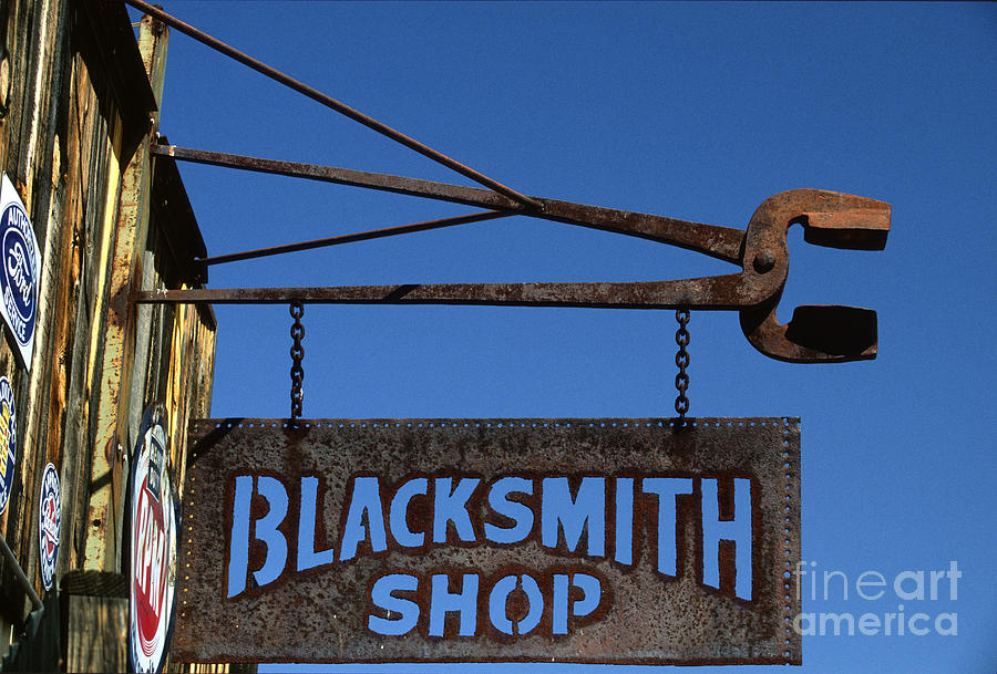 Bronstein Photograph - Iron Signage by Sandra Bronstein