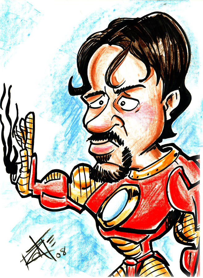 Robert Downey Jr. Drawing - Ironman by Big Mike Roate