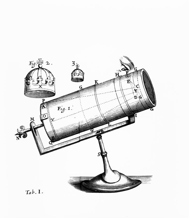 Isaac Newton U0026 39 S Design For A Reflecting Telescope Photograph By