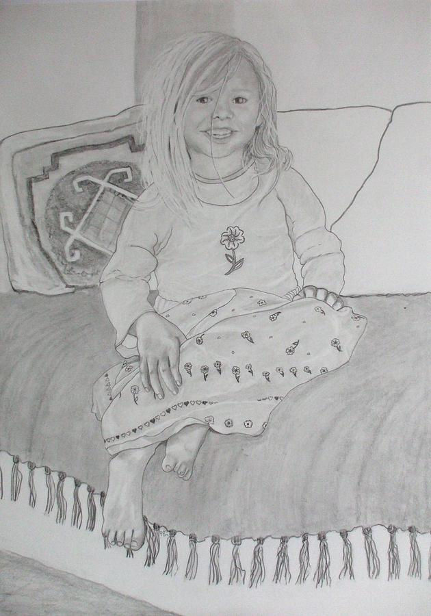 Child Drawing - Isabella by Peter Edward Green