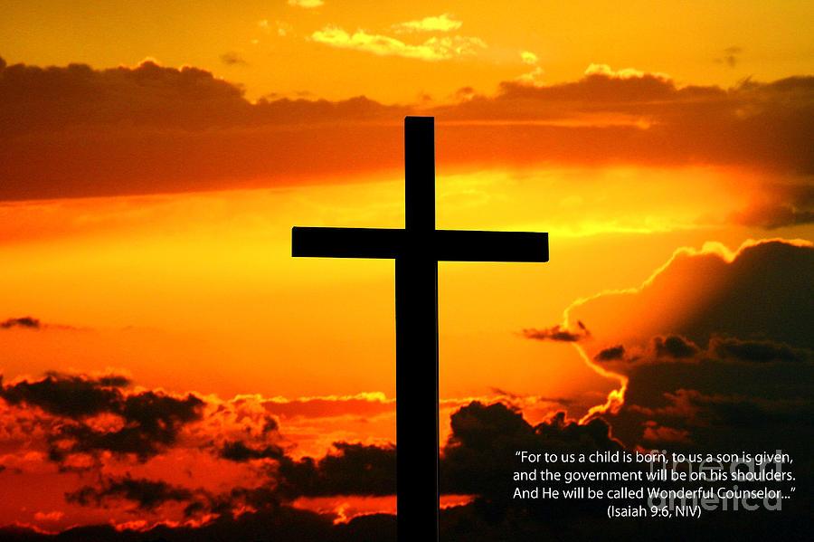 Isaiah 9-6 Niv Photograph