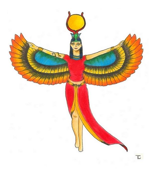 Isis Painting - Isis Egyptian Mother Goddess by Tara Campbell