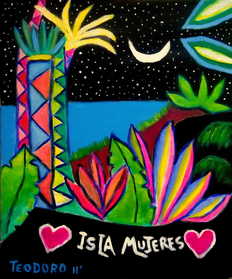 Isla Mujeres Painting by Ted Hebbler