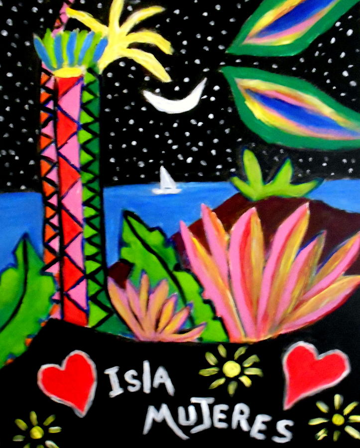Isla Mujeres Vlll Painting by Ted Hebbler