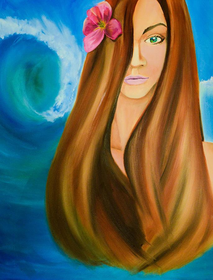 Hawaii Painting - Island Beauty by Chris  Leon