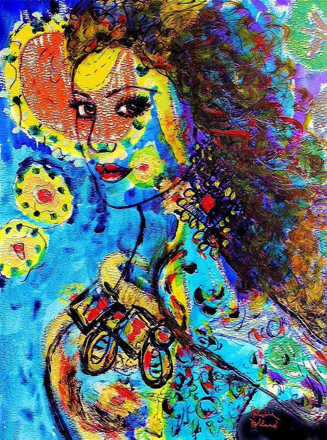Island Girl Painting - Island Girl by Natalie Holland