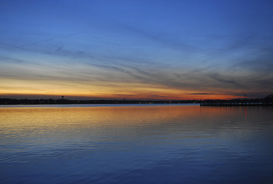 Dusk Photograph - Island Heights At Dusk by Terry DeLuco