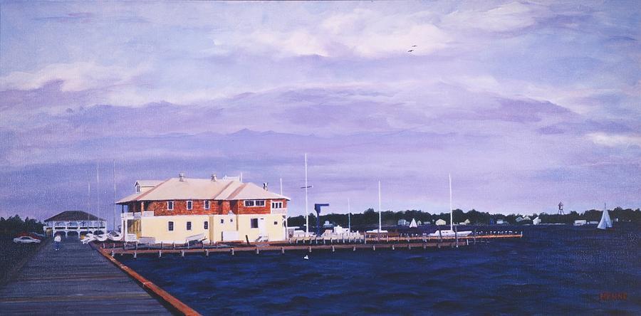 Yacht Club Painting - Island Heights Yacht Club by Robert Henne