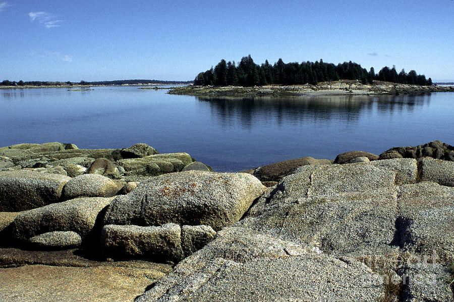 Maine Photograph - Island In The Bay by Thomas R Fletcher