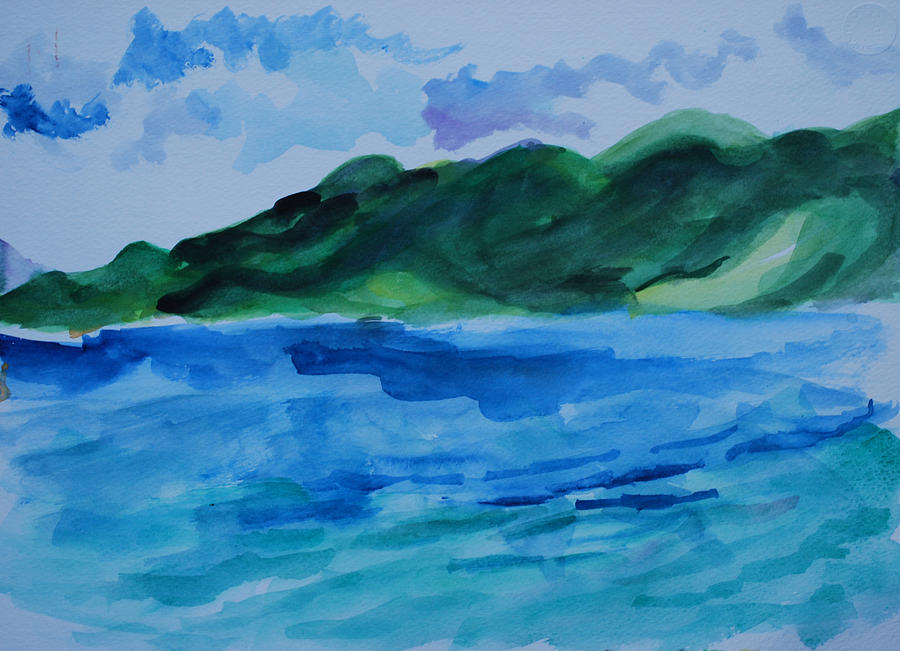 Caribbean Painting - Island Landscape by Rufus Norman
