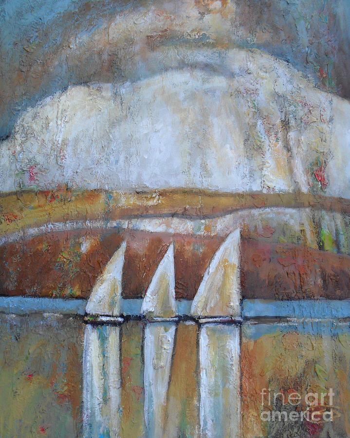 Regatta Painting - Island Rain by Kip Decker