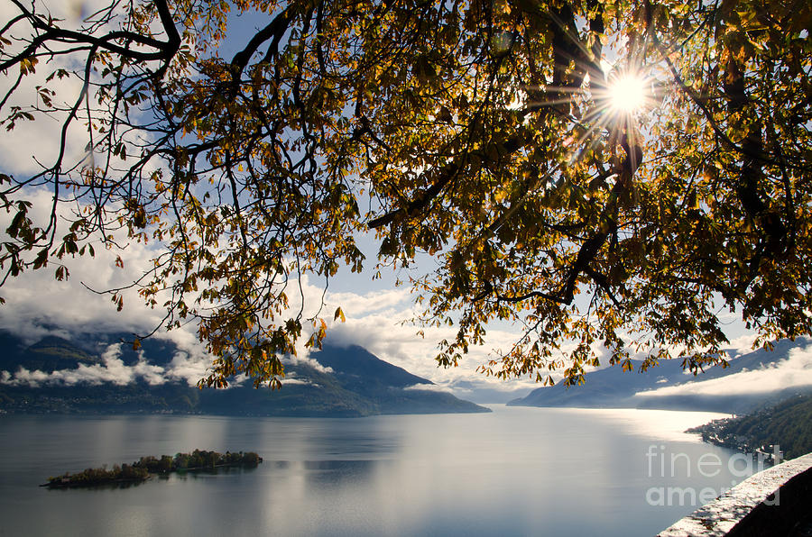 Islands Photograph - Islands On A Lake In Autumn by Mats Silvan