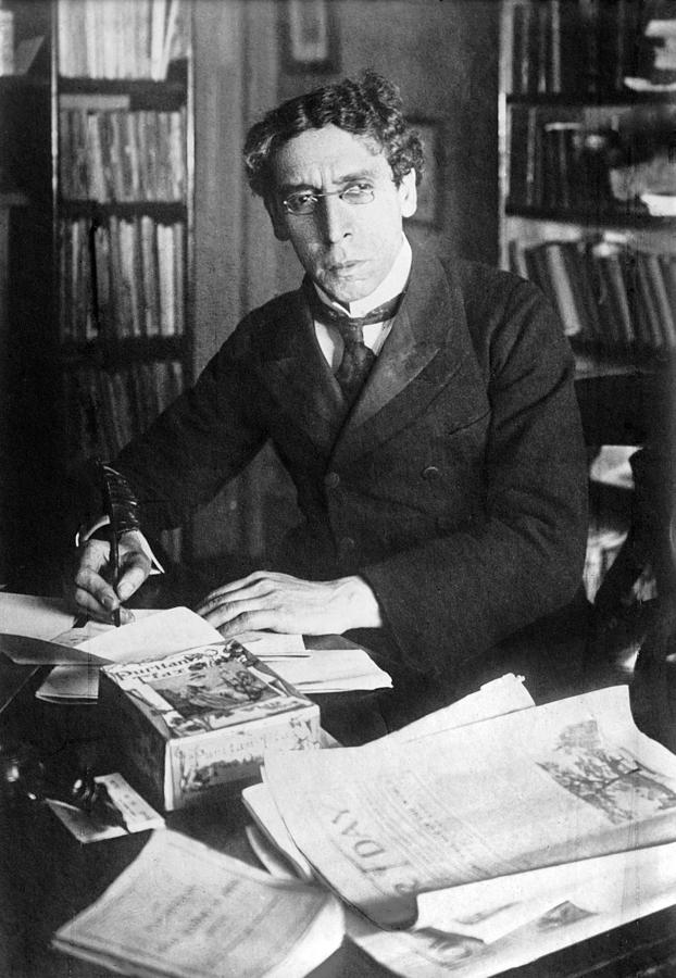 1900s Photograph - Israel Zangwill 1864-1926, English by Everett