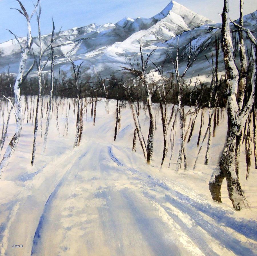Norway Painting - Istidan Mountain by Jennifer  Blenkinsopp