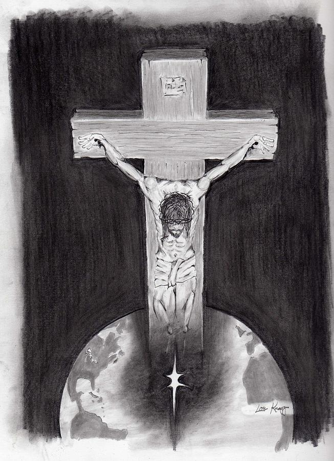 Religious Drawing - It Is Finished by Lou Knapp