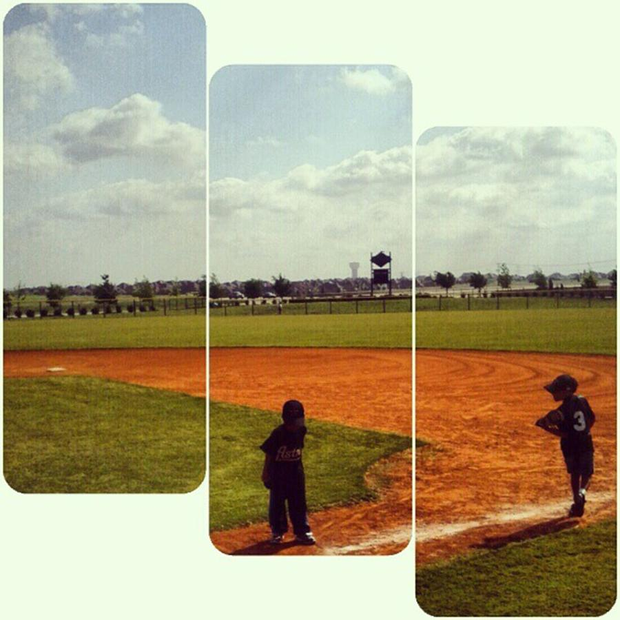 Kids Photograph - It Was A Great Day For Tball... #sports by Kel Hill
