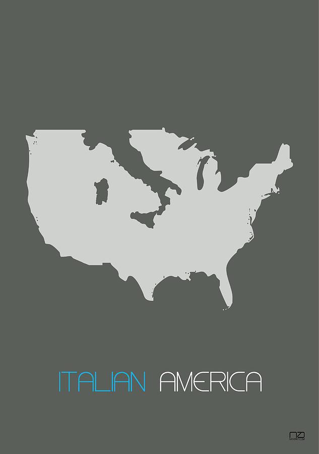 Italy Digital Art - Italian America Poster by Naxart Studio