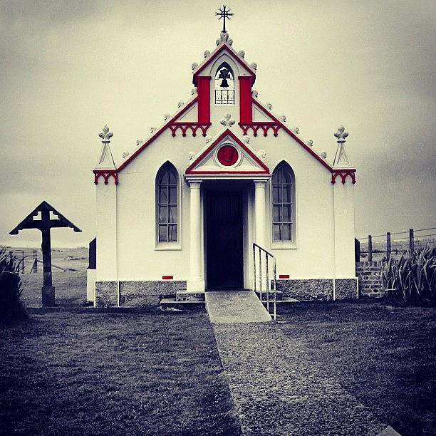 Outdoor Photograph - Italian Chapel - Orkney Islands by Luisa Azzolini