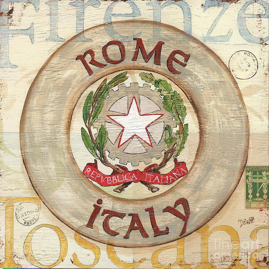 Rome Painting - Italian Coat Of Arms by Debbie DeWitt