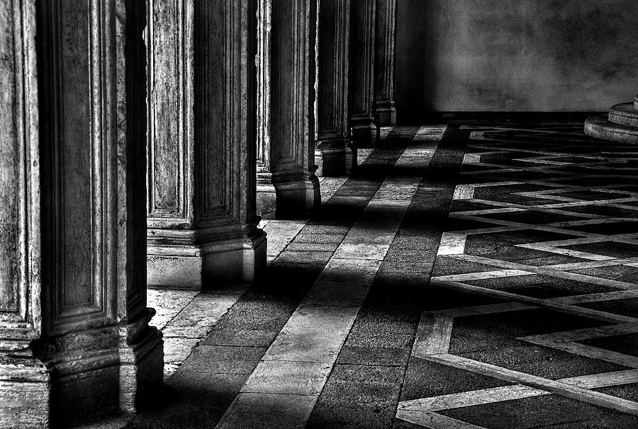 Horizontal Photograph - Italian Columns In Venice by McDonald P. Mirabile