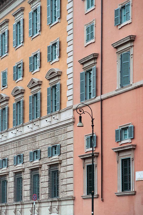 Rome Photograph - Italian Facade by Mark Greenberg