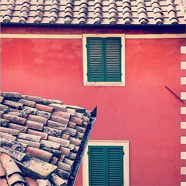 Old Photograph - Italian Geometry #house #shutters by A Rey