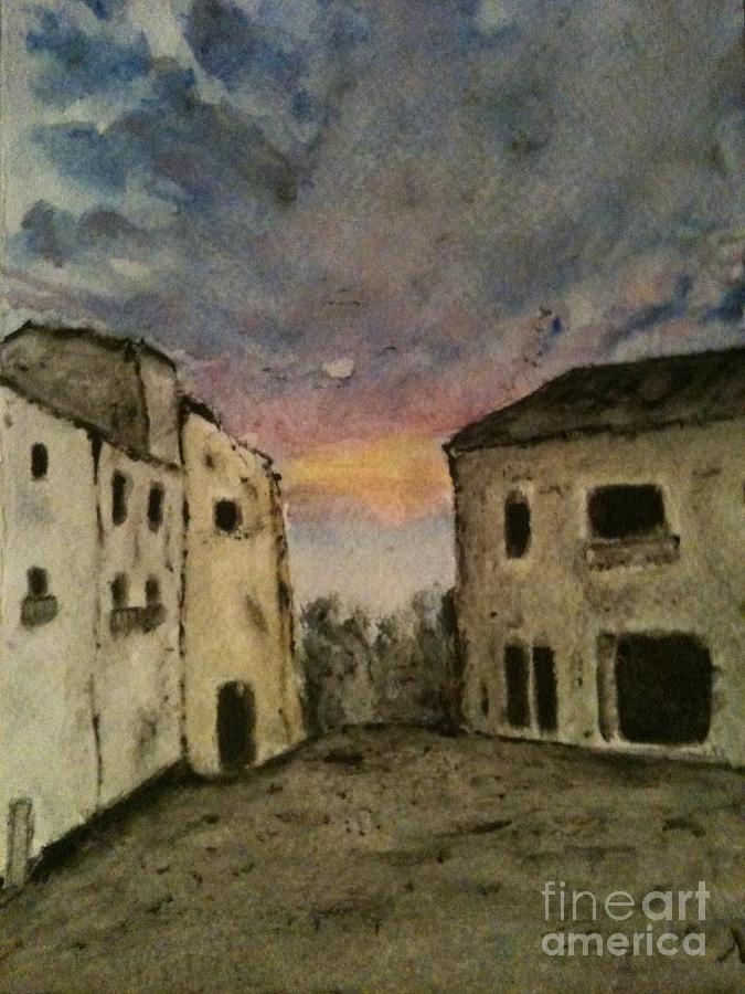 Italy Painting - Italian Landscape by Nicla Rossini