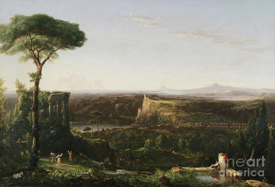 Thomas Painting - Italian Scene Composition by Thomas Cole