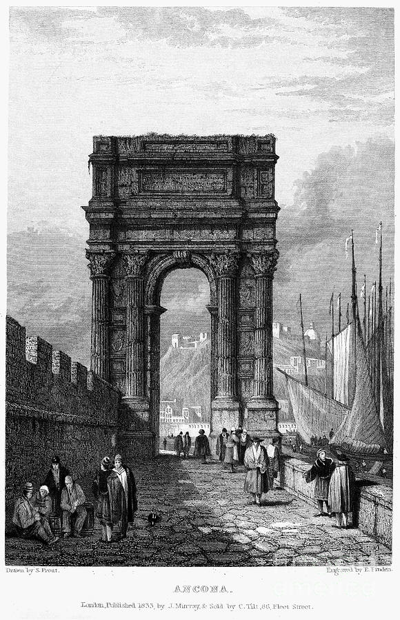 1833 Photograph - Italy: Ancona, 1833 by Granger