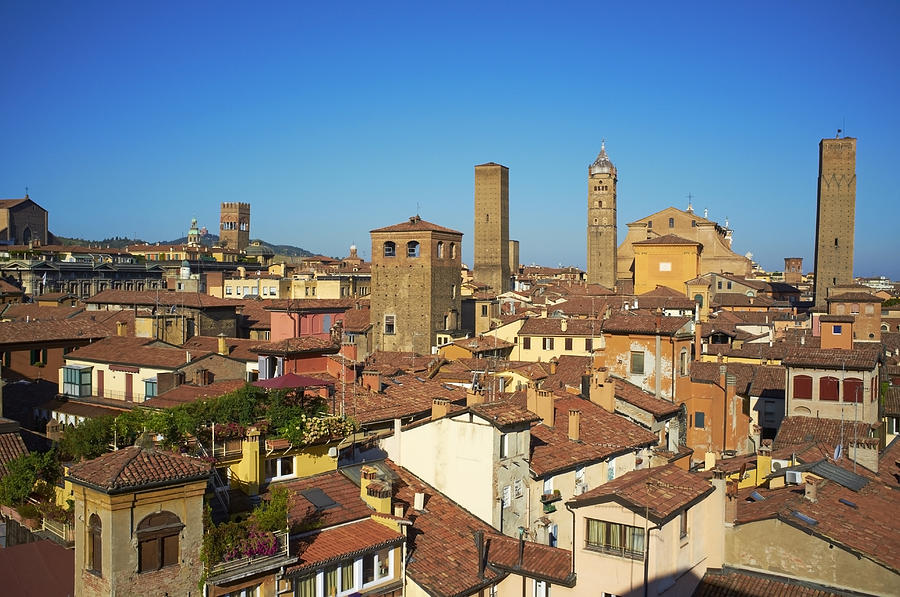 Horizontal Photograph - Italy, Emilia-romagna, Bologna, Cityscape by Bruno Morandi