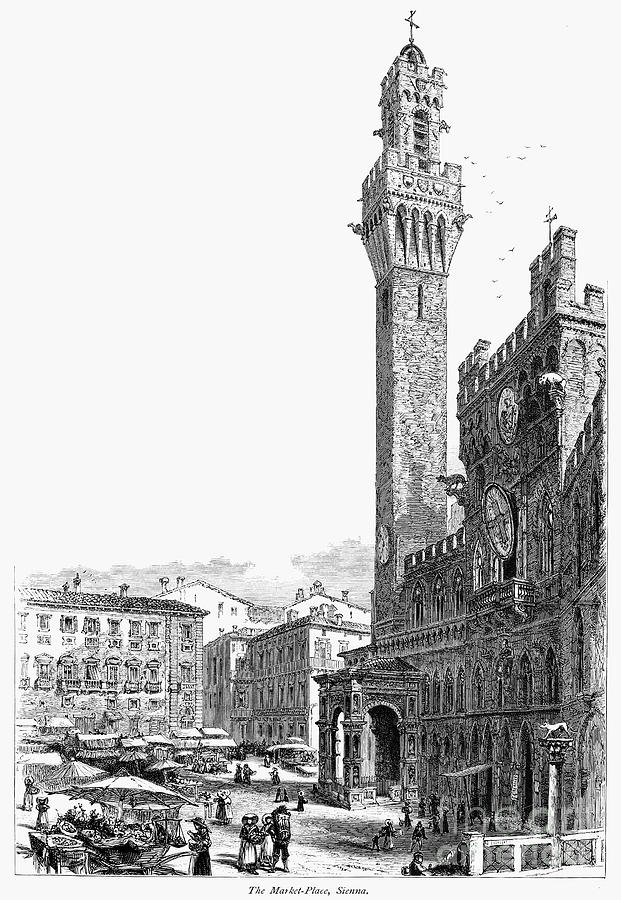 19th Century Photograph - Italy: Siena, 19th Century by Granger
