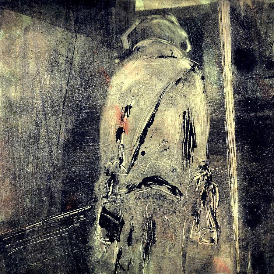 Monotype Drawing - Itinerance by Rochelle Mayer