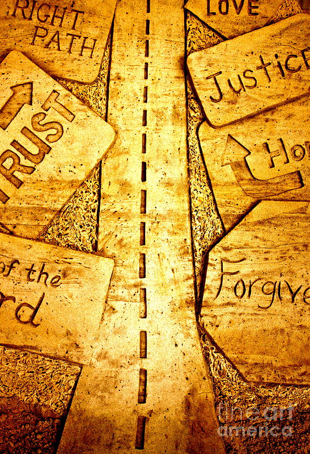 Its A Long Road Pyrography by Ted Wheaton