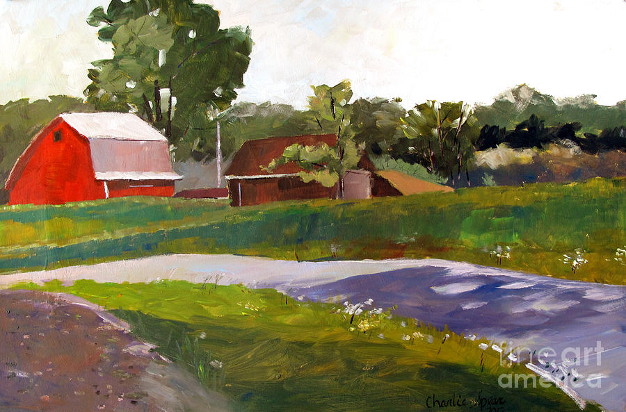 Farm Painting - Its Not So Unusual by Charlie Spear