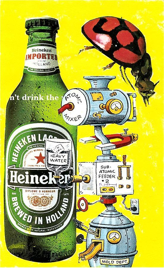Lady Bug Mixed Media - Its Still Beer by Rob M Harper