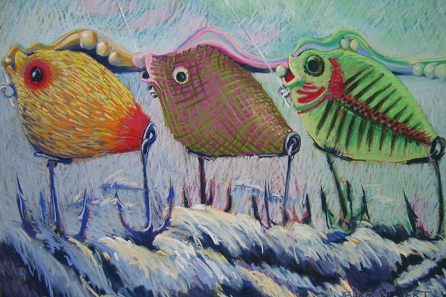 Fish Pastel - Itty Bitty Pond by Barbara Richert